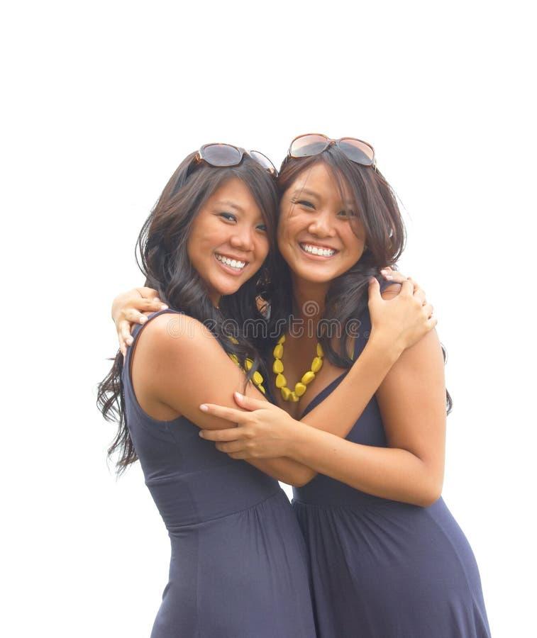 Abbraccio dei gemelli fotografia stock libera da diritti