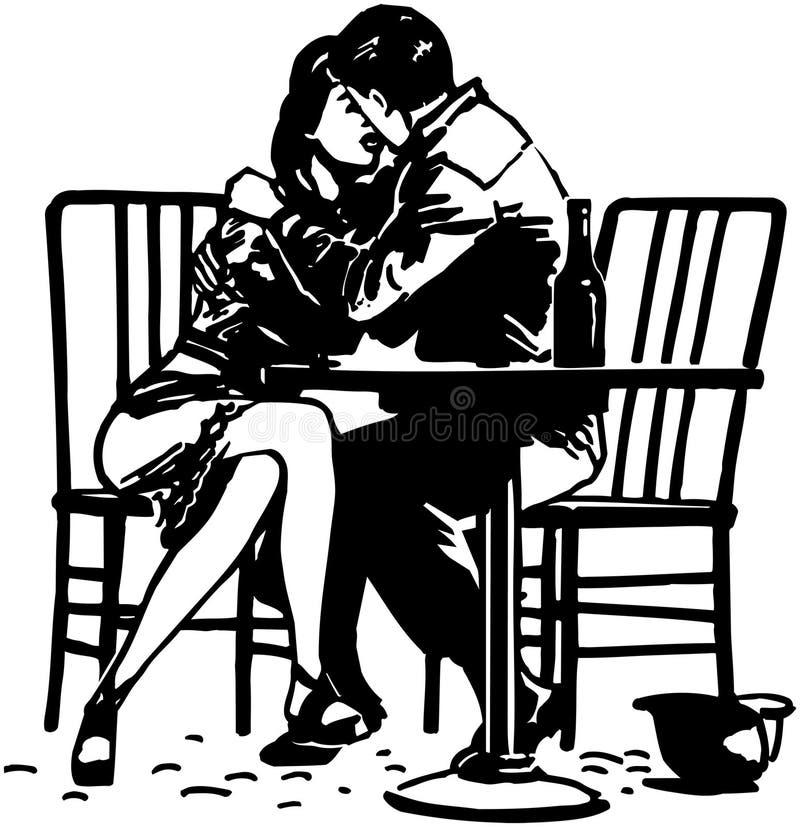 Abbraccio romantico illustrazione vettoriale