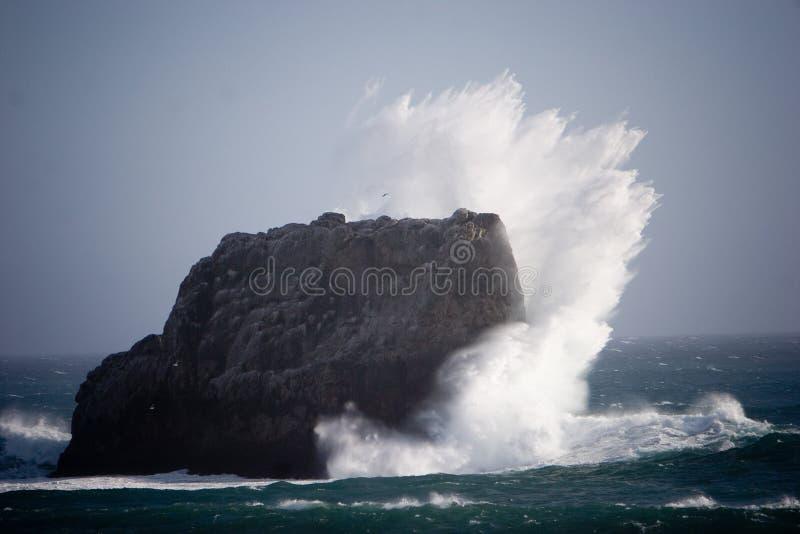 Abbrechende Welle lizenzfreie stockbilder