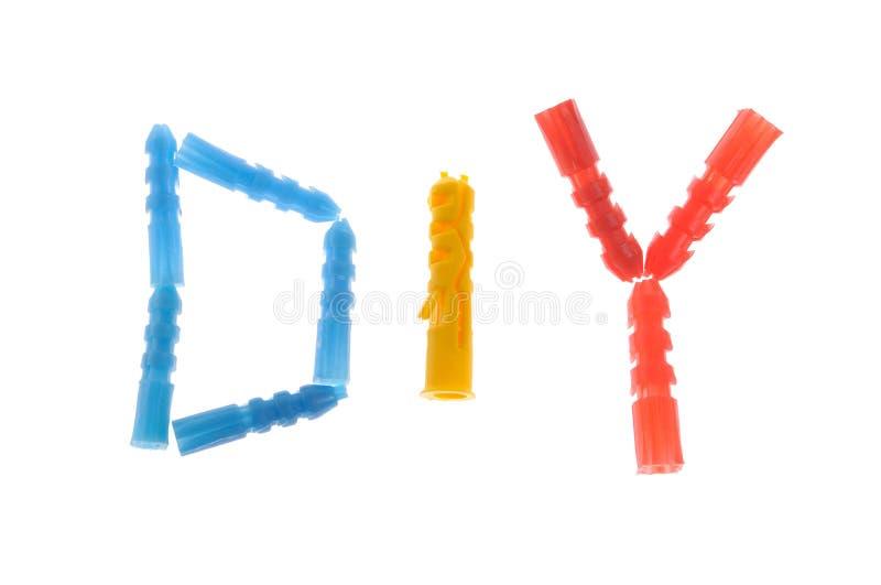 abbreviation do dowels έγινε στοκ φωτογραφία
