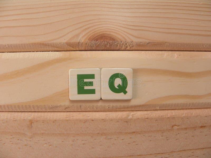 Abbreviation EQ royalty free stock image