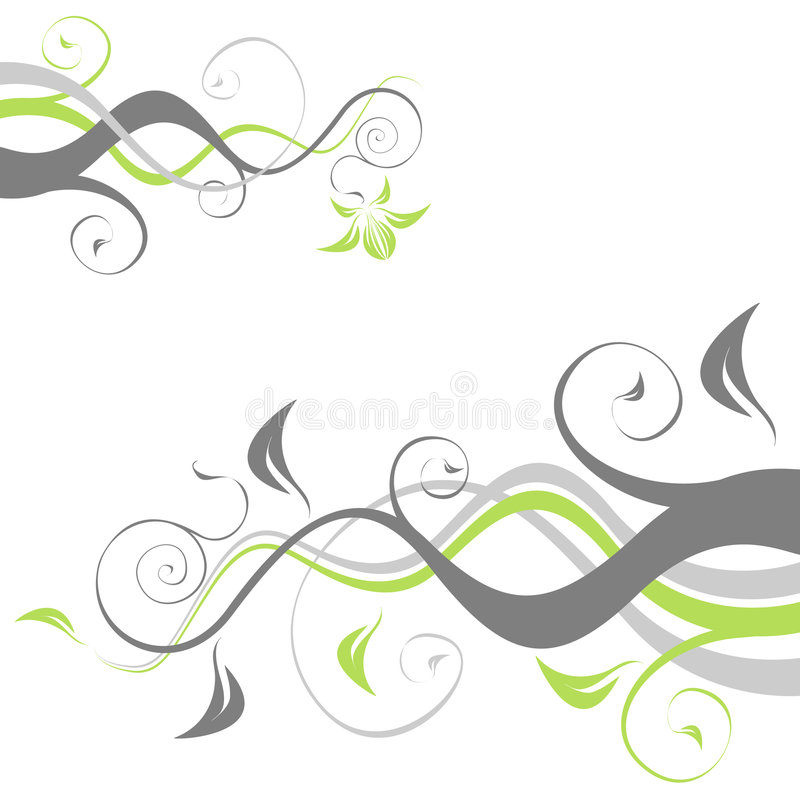 Abbstract flowers stock illustration