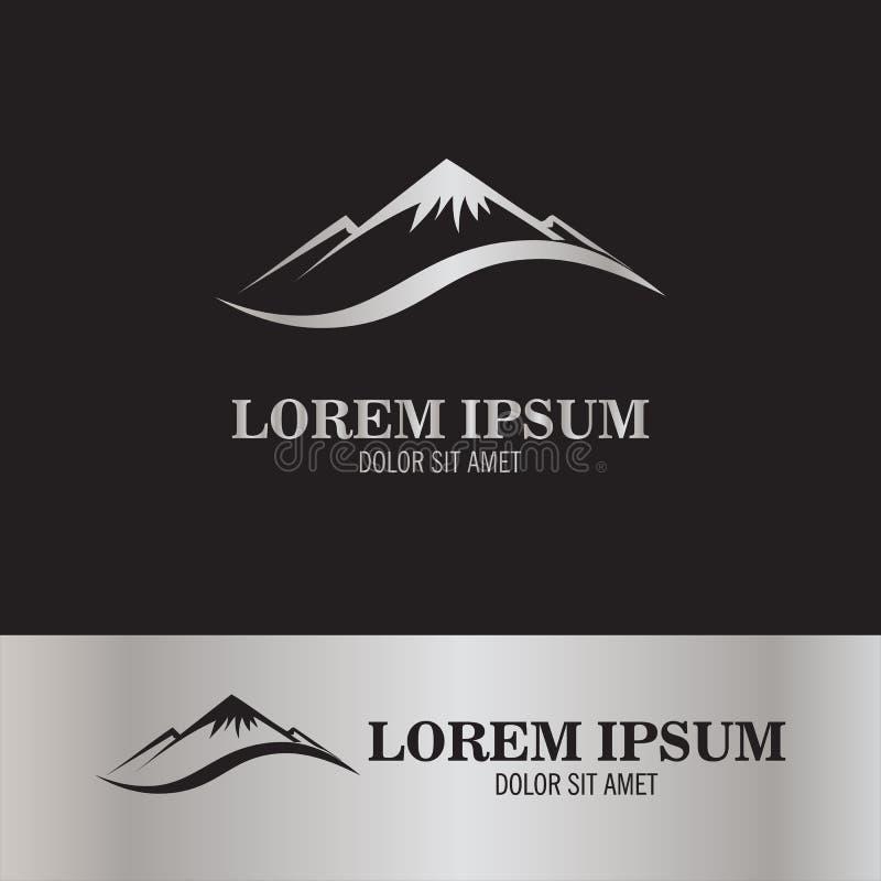 Abbstract góry logo royalty ilustracja