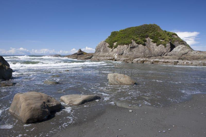Abby Island em Ruby Beach imagens de stock