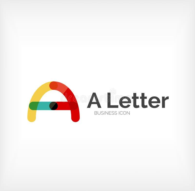 Abc信件商标 向量例证