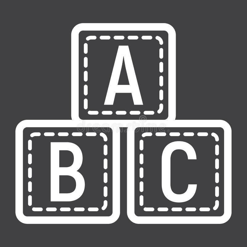 ABC封闭的线路象,字母表立方体和教育 皇族释放例证