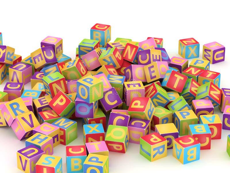 ABC立方体堆 库存例证