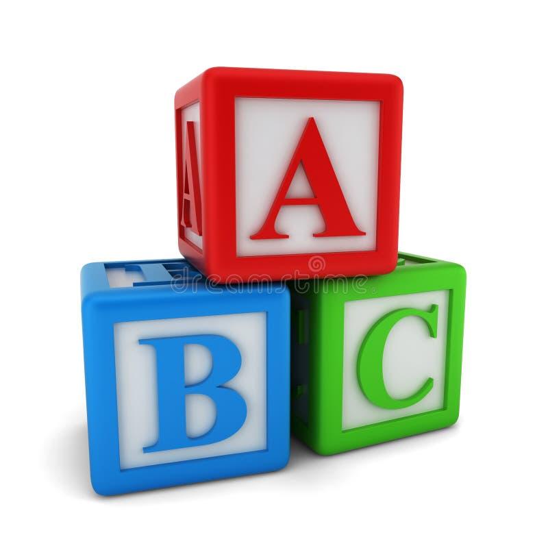 Abc立方体 向量例证