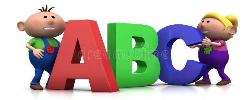 abc επιστολές κατσικιών απεικόνιση αποθεμάτων