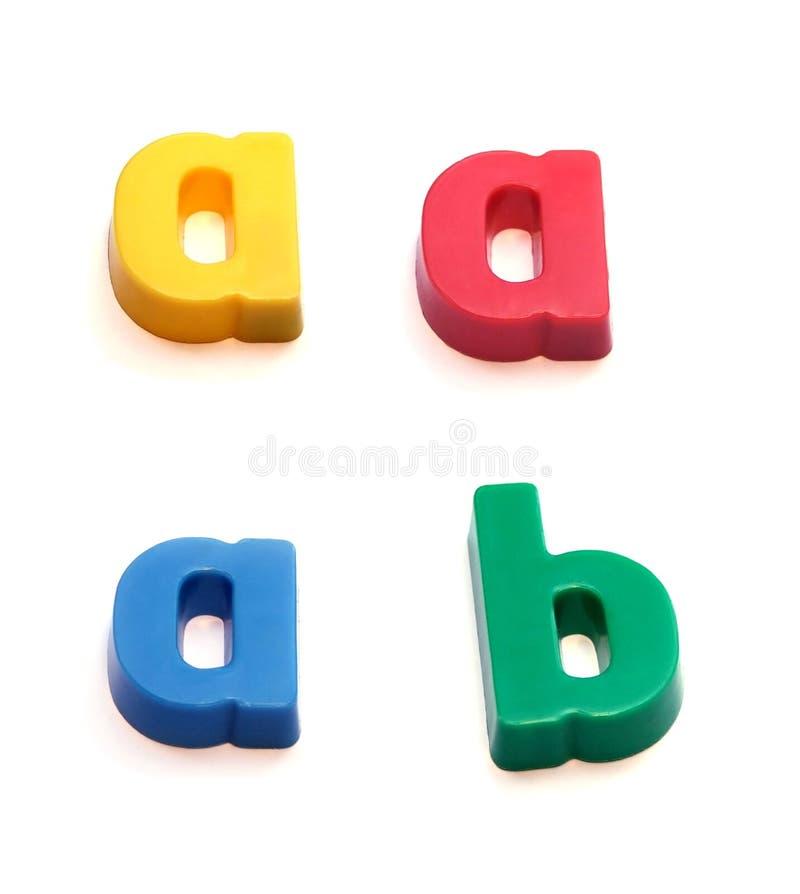 abc μαγνήτες ψυγείων στοκ φωτογραφία