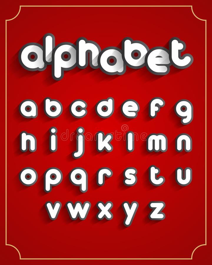 abc μηχανικό καθορισμένο χρονοδιάγραμμα επιστολών αλφάβητου διανυσματική απεικόνιση