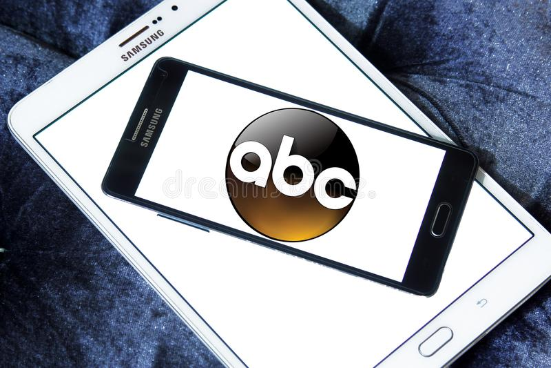 ABC, логотип Американской вещательной компании иллюстрация штока
