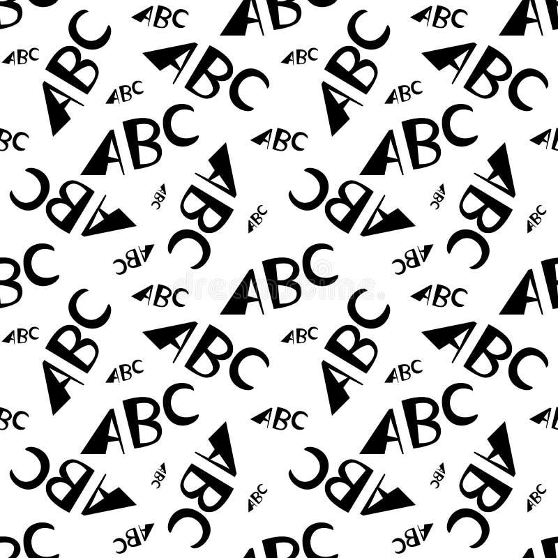 ABC помечает буквами безшовную картину Творческий дизайн в стиле офиса иллюстрация штока