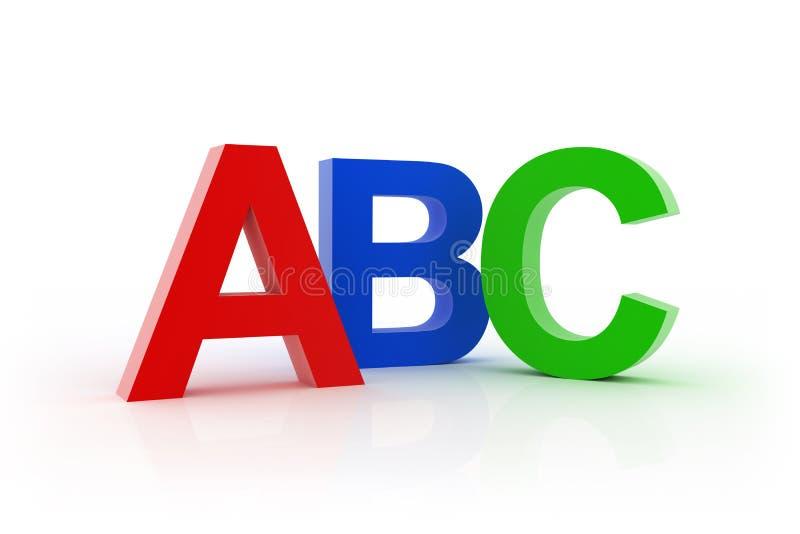 ABC ilustração stock