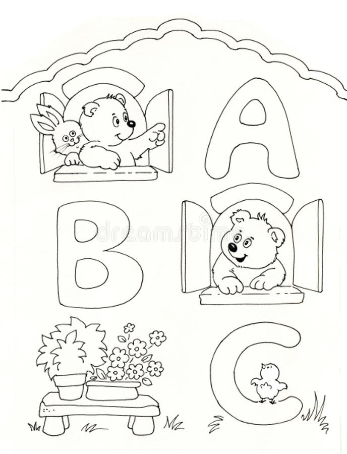 abc royaltyfri illustrationer