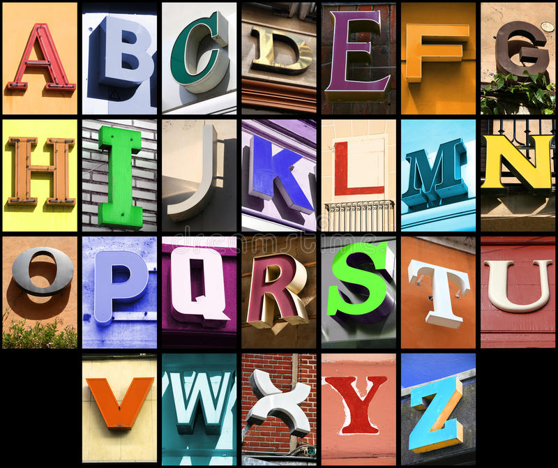 Download ABC stock image. Image of letters, colours, collage, typeset - 22770825