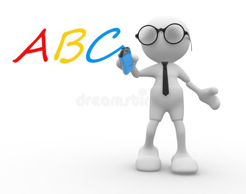 ABC illustrazione vettoriale