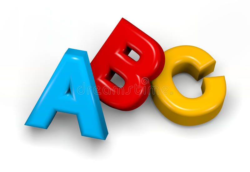 ABC illustration stock