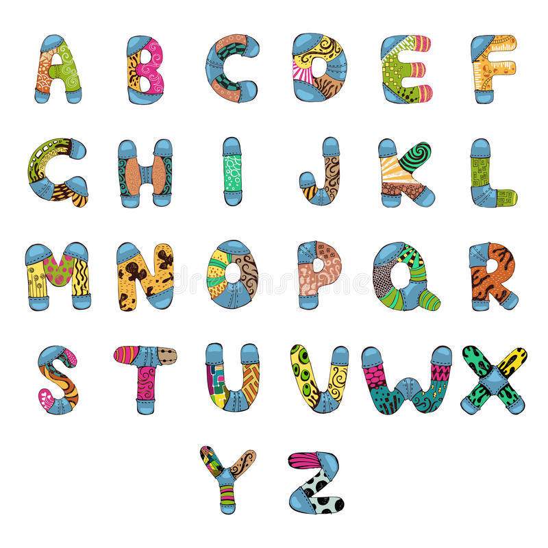 abc-alfabet vektor illustrationer