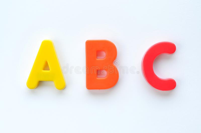 ABC Alphabets (White Background) royalty free stock photography
