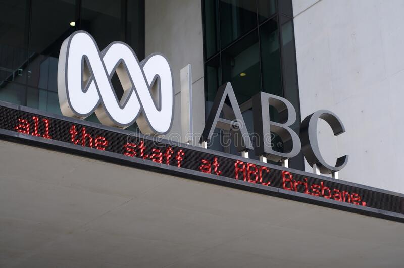 ABC Australian Broadcasting Corporation Logo royalty-vrije stock foto's
