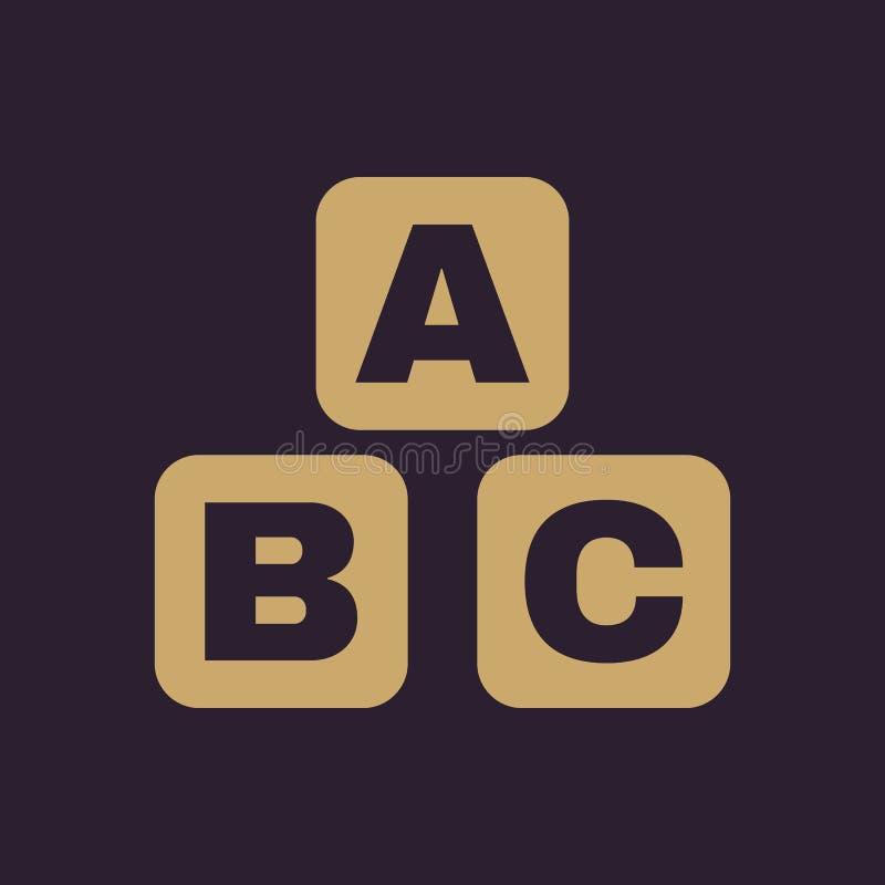 ABC-Bausteinikone ABC-Ziegelsteinvektordesign Babyziegelsteinsymbol web graphik jpg ai app zeichen nachricht flach vektor abbildung