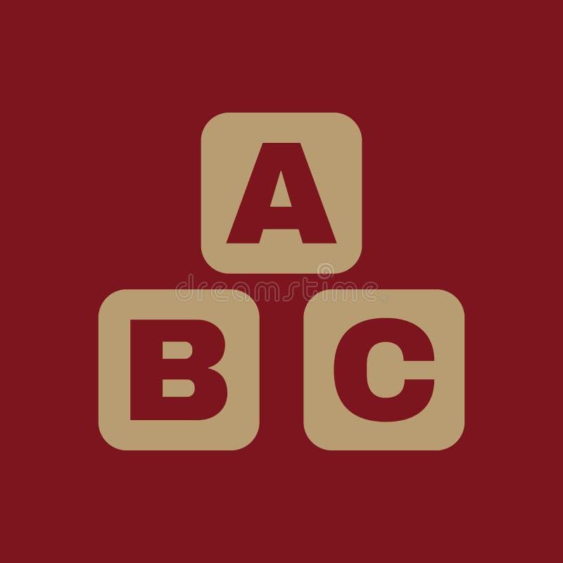 ABC-Bausteinikone ABC-Ziegelsteinvektordesign Babyziegelsteinsymbol web graphik jpg ai app zeichen nachricht flach stock abbildung