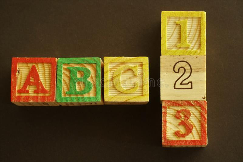Abc - 123, the beginning royalty free stock image