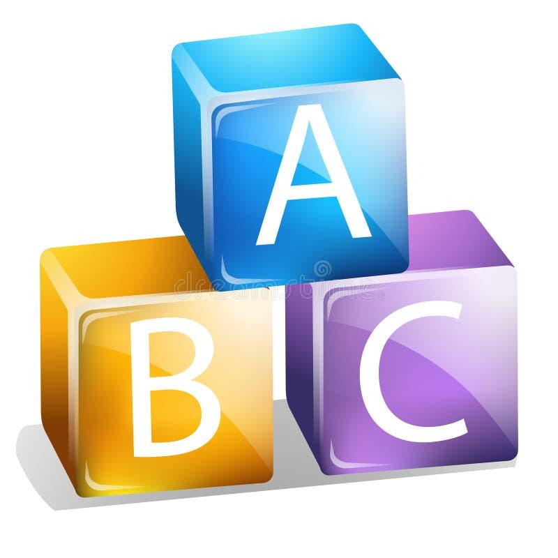 ABC-Blöcke stock abbildung