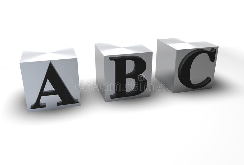 ABC-Blöcke lizenzfreie abbildung