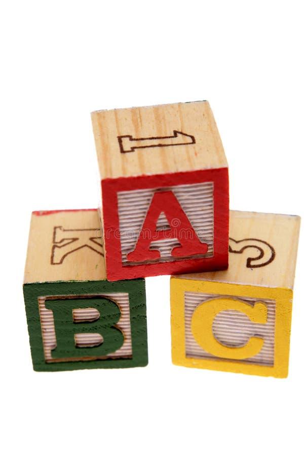 ABC-Blöcke stockfotografie