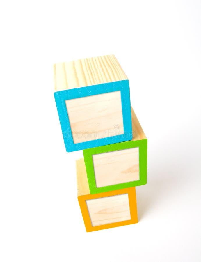 abc blank blokuje drewniany zdjęcie stock
