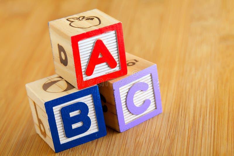 ABC blocca fotografia stock libera da diritti