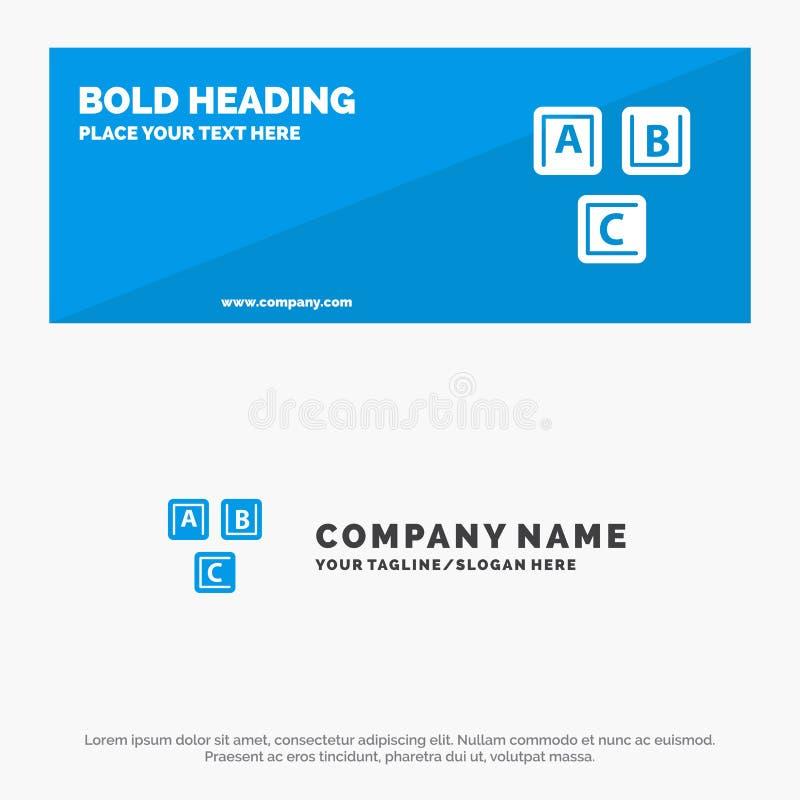 ABC, blocchi, di base, alfabeto, insegna solida del sito Web dell'icona di conoscenza ed affare Logo Template illustrazione vettoriale