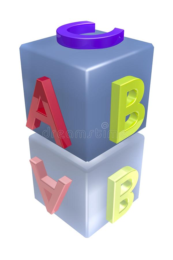 Download Abc block stock illustration. Image of play, elementary - 26038848