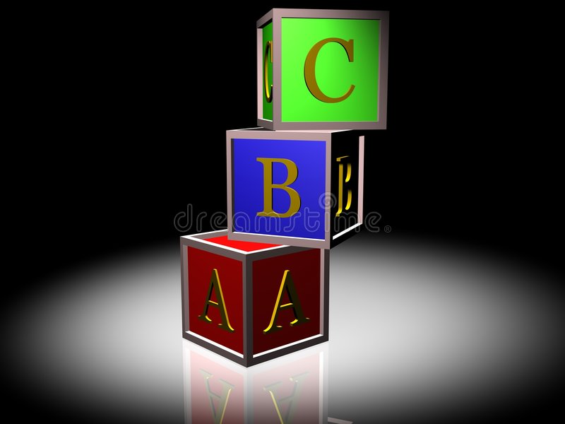 ABC BLOCKS vector illustration