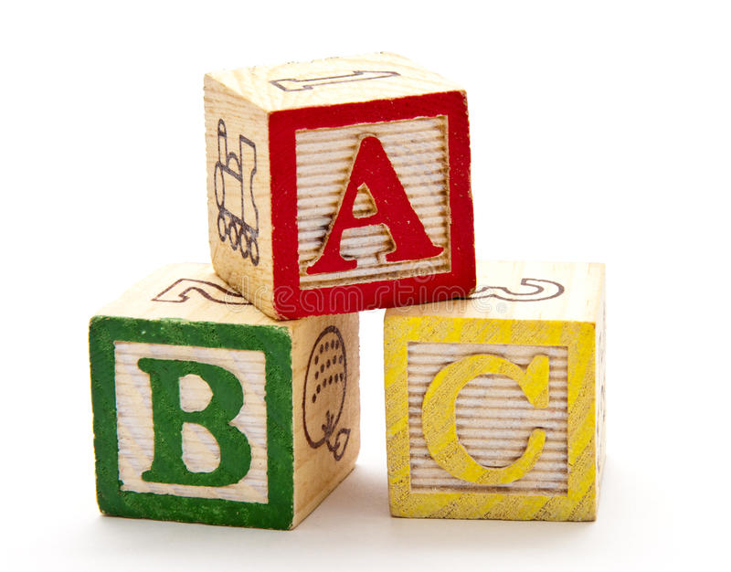 ABC Blocks stock images