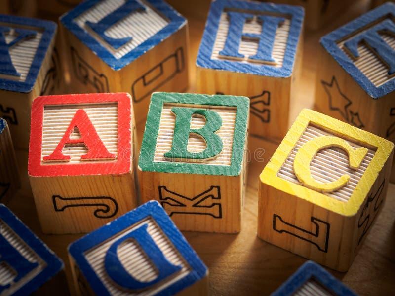 ABC blocks. ABC toy blocks for alphabet concept stock image