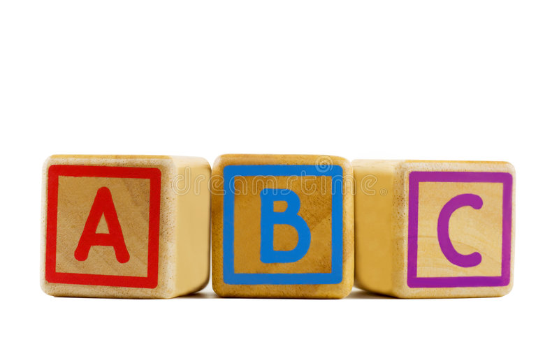 ABC Blocks. Isolated in white background