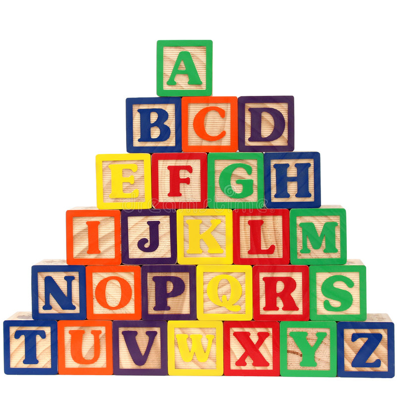 ABC Blokken A-Z vector illustratie