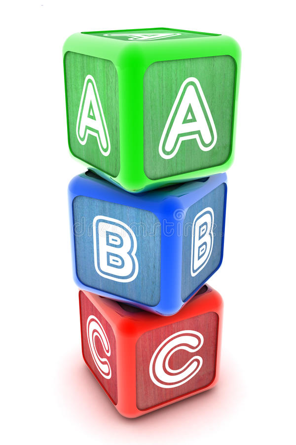 Download ABC Building Blocks stock illustration. Image of concept - 35334276