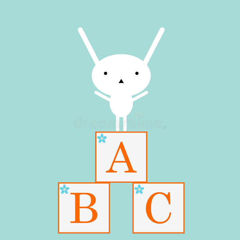 abc bunny απεικόνιση αποθεμάτων
