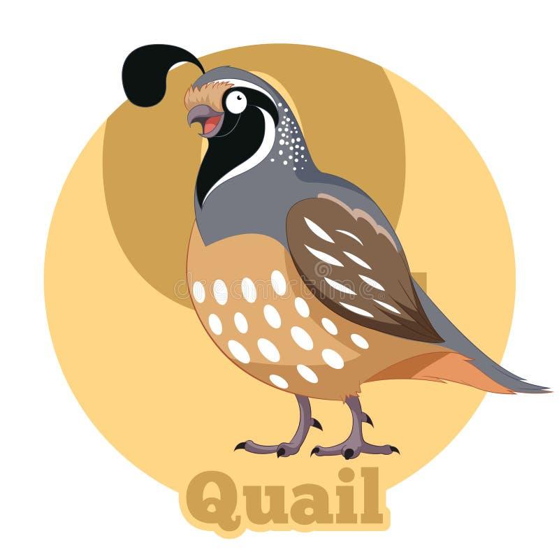ABC Cartoon Quail royalty free illustration