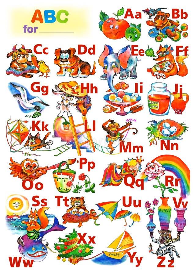 ABC for children stock photo