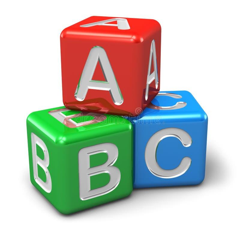 ABC Color Cubes Stock Image