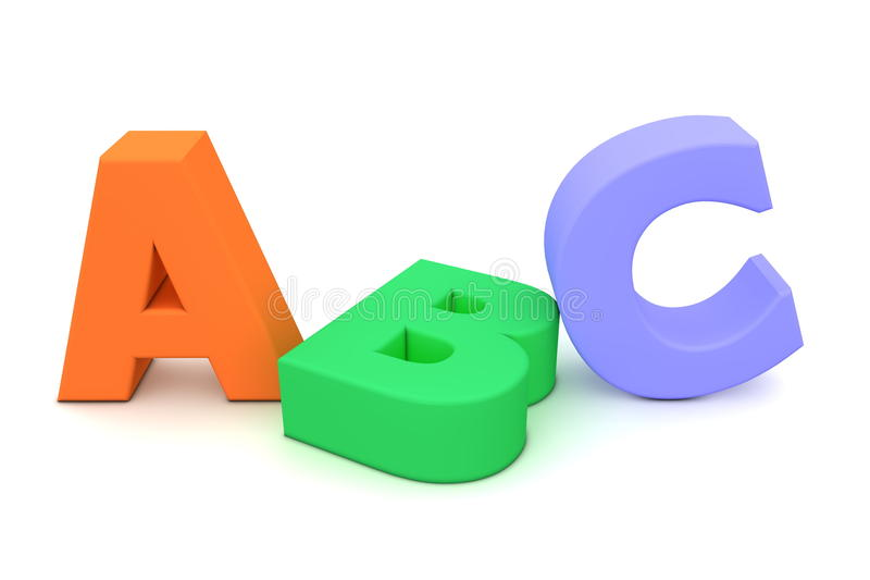 ABC colorido ilustração stock