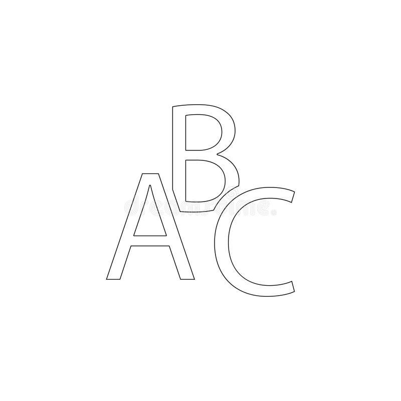 ABC ?cone liso do vetor ilustração royalty free