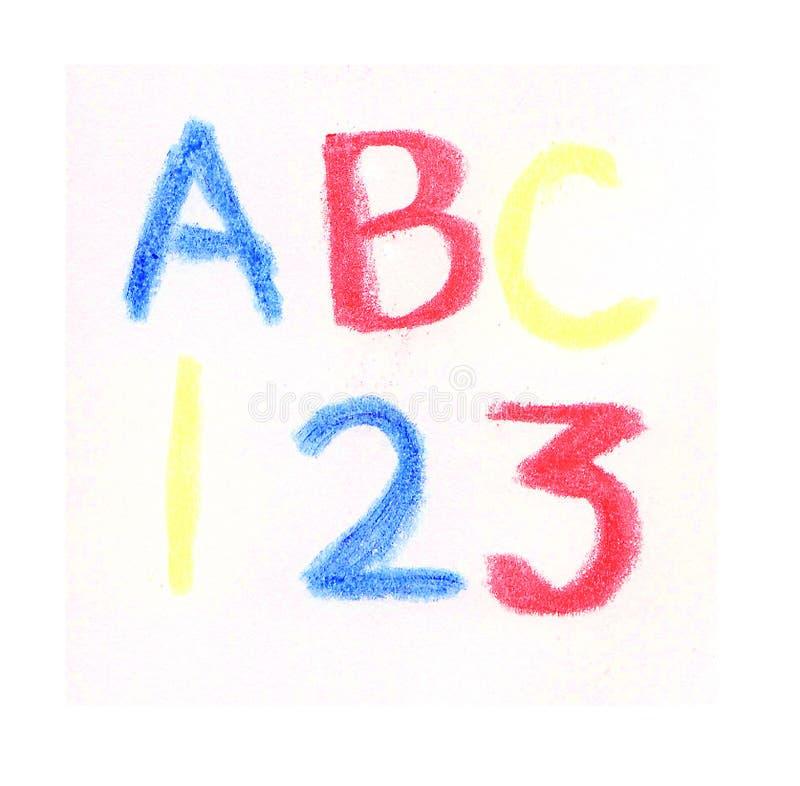 ABC da instrução, 123 foto de stock