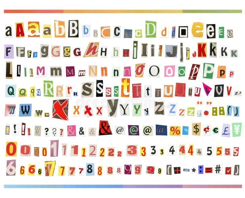 ABC de découpage images stock