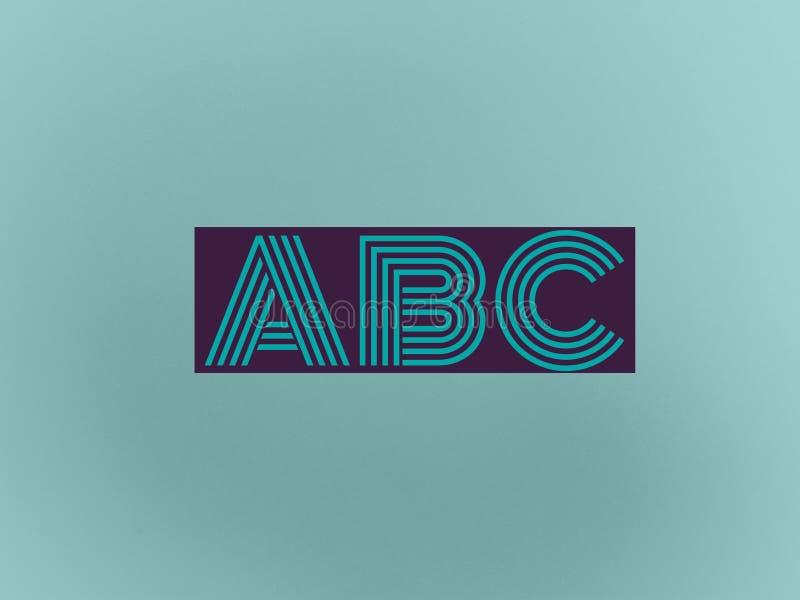 ABC de los alfabetos ingleses escrito en un fondo hermoso ilustración del vector